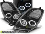 Predné svetlá Toyota Yaris 06-09 Angel Eyes černá