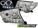 Predné svetlá Toyota Land Cruiser FJ200 07-12 Angel Eyes chrom