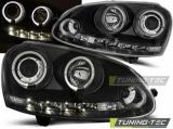 Predné svetlá VW Golf 5 10/03-09 Angel Eyes černá