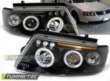 Predné svetlá VW Passat B5 3B 11/96-08/00 Angel Eyes černá