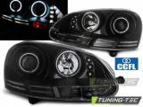 Predné svetlá VW Golf 5 10/03-09 Angel Eyes CCFL černá