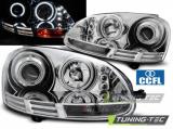 Predné svetlá VW Golf 5 10/03-09 Angel Eyes CCFL chrom