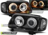 Predné svetlá VW Polo 6N2 10/99-10/01 Angel Eyes černá