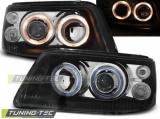 Predné svetlá VW T5 03/04/08/09 Angel Eyes černá