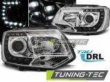 Predné svetlá VW T5 2010-2015 TRUE DRL chrom