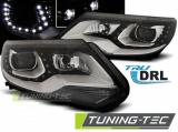 Predné svetlá VW Tiguan 2011 - 12/2015 TRUE DRL černá