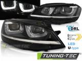 Predné svetlá VW Golf 7 11/12-17 černá DRL led