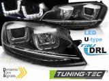 Predné svetlá VW Golf 7 11/12-17 Led DRL černá  SEQ