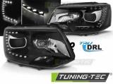 Predné svetlá VW T5 2010-15 TRUE DRL černá
