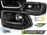 Predné svetlá VW T5 2010-15 TUBE DRL černá SEQ