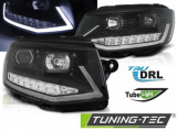 Predné svetlá VW T6 15-19 černá/chrom DRL