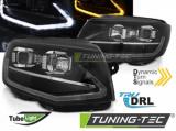 Predné svetlá VW T6 15-19 TUBE černá DRL SEQ