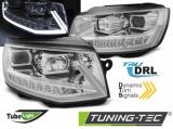 Predné svetlá VW T6 15-19 TUBE DRL chrom SEQ