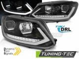 Predné svetlá VW Touran II 10/08/15 TUBE DRL černá SEQ