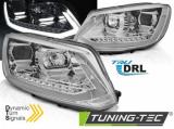 Predné svetlá VW Touran II 10/08/15 TUBE DRL chrom SEQ