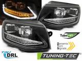 kopie Predné svetlá VW T6 15-19 TUBE DRL černá SEQ