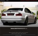 Zadní nárazník BMW E46 coupe/cabrio - M3 LOOK (pro M3 výfuky)