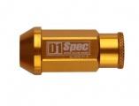 Kolesové racingové matice (štifty) D1 Spec závit M12 x 1.25 - zlaté