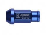 Kolesové racingové matice (štifty) D1 Spec závit M12 x 1.25 - modré