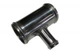 Hliníková (Alu) rúrka T kus - priemer 51mm (2 palce) - 25mm - dĺžka 100mm