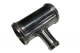 Hliníková (Alu) rúrka T kus - priemer 70mm (2,75 palca) - 25mm - dĺžka 100mm