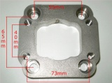 Redukčný adaptér na Fiat Uno turbo IHI> T25 (oceľ)