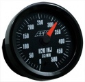 Analógový budík AEM prietok vody / metanolu (black face) 500cc / min