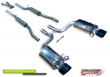 Catback výfuk Milltek Audi RS4 B7 4.2 V8 Sedan / Avant / Cabriolet (06-) - verzia s rezonátory bez výfuk. klapiek - koncovky Satin Sheen Black Tip