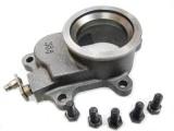 Príruba s ovládacou klapkou pre interné wastegate na turbo T3 / T4