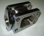 Redukčný adaptér na turbo T25> T3 + wastegate 38mm (oceľ)