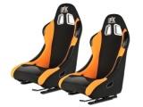 Sportovní sedačky FK Automotive Angeles oranžové