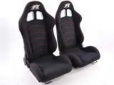Sportovní sedačky FK Automotive Seattle černé černá nit