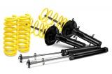 Kompletní sportovní podvozek ST suspensions pro VW Passat (35i) s náhonem př. kol sedan 1.6, 1.8, 2.0, r.v. 09/92-09/96, snížení 60/40mm, dlouhé tělo tlumiče