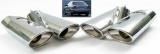 Dvojitá koncovka výfuku nerez Mercedes S Class W220