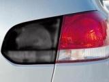 Folie na světlomety - černá-matná, 100x30cm
