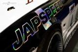Samolep Japspeed - čierna na chrómu - 250mm