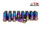 Kolesové racingové matice (štifty) Blox závit M12 x 1.5 - titan look (neo chrome)