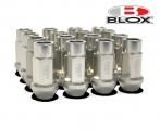 Kolesové racingové matice (štifty) Blox závit M12 x 1.25 - strieborné