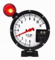 Prídavný budík Type-R - tachometer (125mm) sa shift Light - biely / čierny