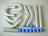 Univerzální set hadic a trubek pro intercooler -  76mm - modrý