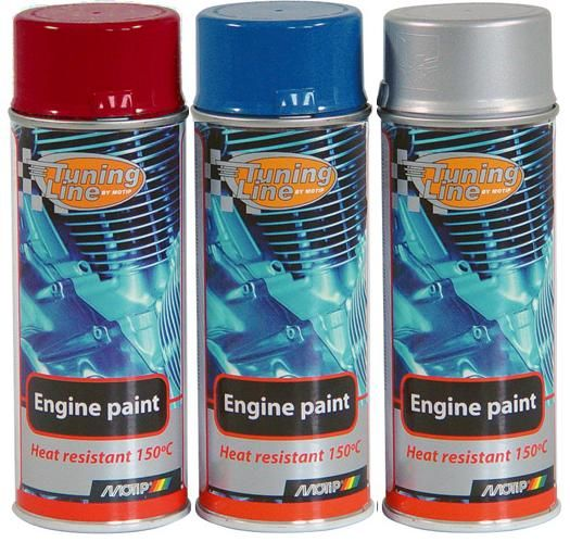 Barva na motor Motip Engine Paint sprej 400ml - stříbrná lesklá