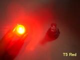 LED palubní deska Neo Wedge T5 červená