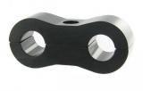 Separátor na vedení - průměr 2x 6,4mm - černý