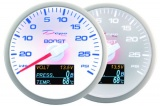 Prídavný budík Depo Racing WBL 4in1 - tlak turba, voltmeter, tlak oleja, teplota oleja