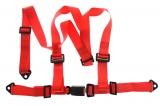 Bezpečnostný pás Pro Sport 3-bodový červený - 50mm