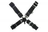 Bezpečnostný pás Pro Sport 4-bodový čierny - 50mm