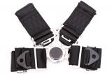 Bezpečnostný pás Pro Sport 4-bodový čierny - 76mm