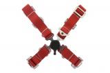 Bezpečnostný pás Pro Sport 4-bodový červený - 50mm