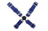 Bezpečnostný pás Pro Sport 4-bodový modrý - 50mm