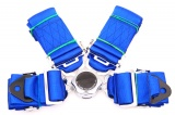 Bezpečnostný pás Pro Sport 4-bodový modrý - 76mm
